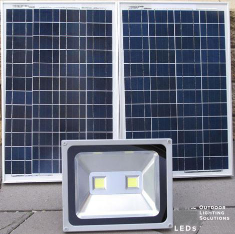 100W Output large solar led flood lights