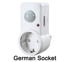 German indoor motion sensor light socket