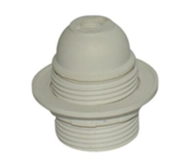 Plastic E27 Edison screw lamp holder with Shade Ring
