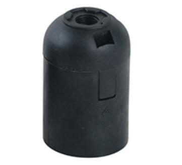 E27 Plastic screw lamp holder black