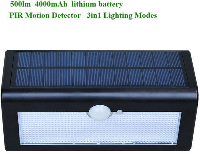 54 solar powered outdoor wall lights IP65 waterproof