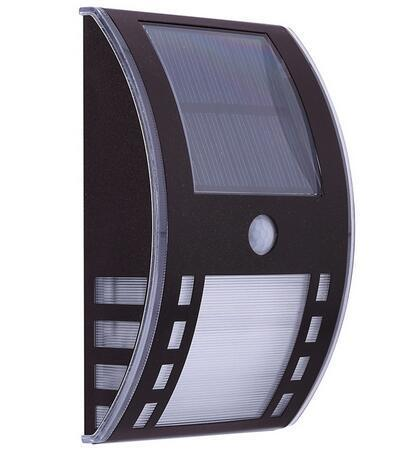 Plastic solar powered led wall lights
