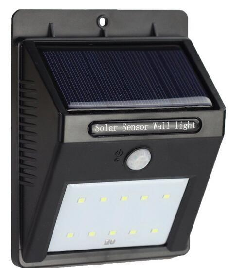New IP65 PIR Motion Sensor 16 led solar wall lights