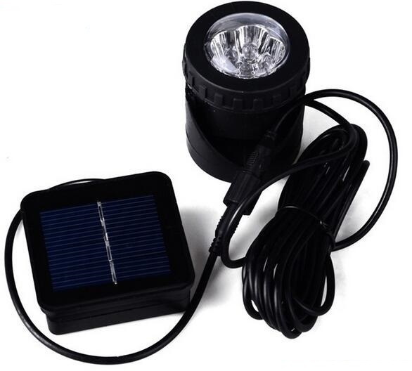 6led Solar Pond Lights small solar powered spotlight for Fish Tank