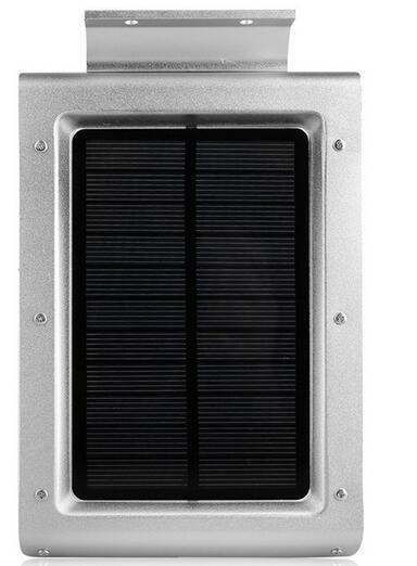 46 LED motion sensor solar wall light - black nickel