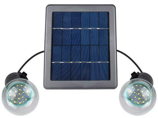 E27 360LM Double solar bulb lamp with Rechargeable Battery