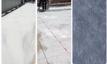 奥山世纪城艺术压模地坪战略合作项目工程案例
