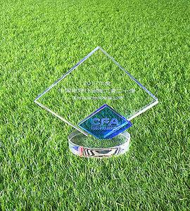 2017年度中国地坪行业施工商二十强荣誉证书-奖杯