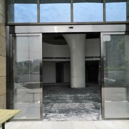 金沙城大厦感应门案例,不锈钢感应门案例