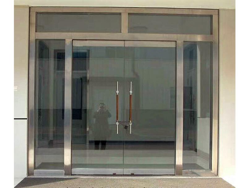 成都玻璃门安装案例