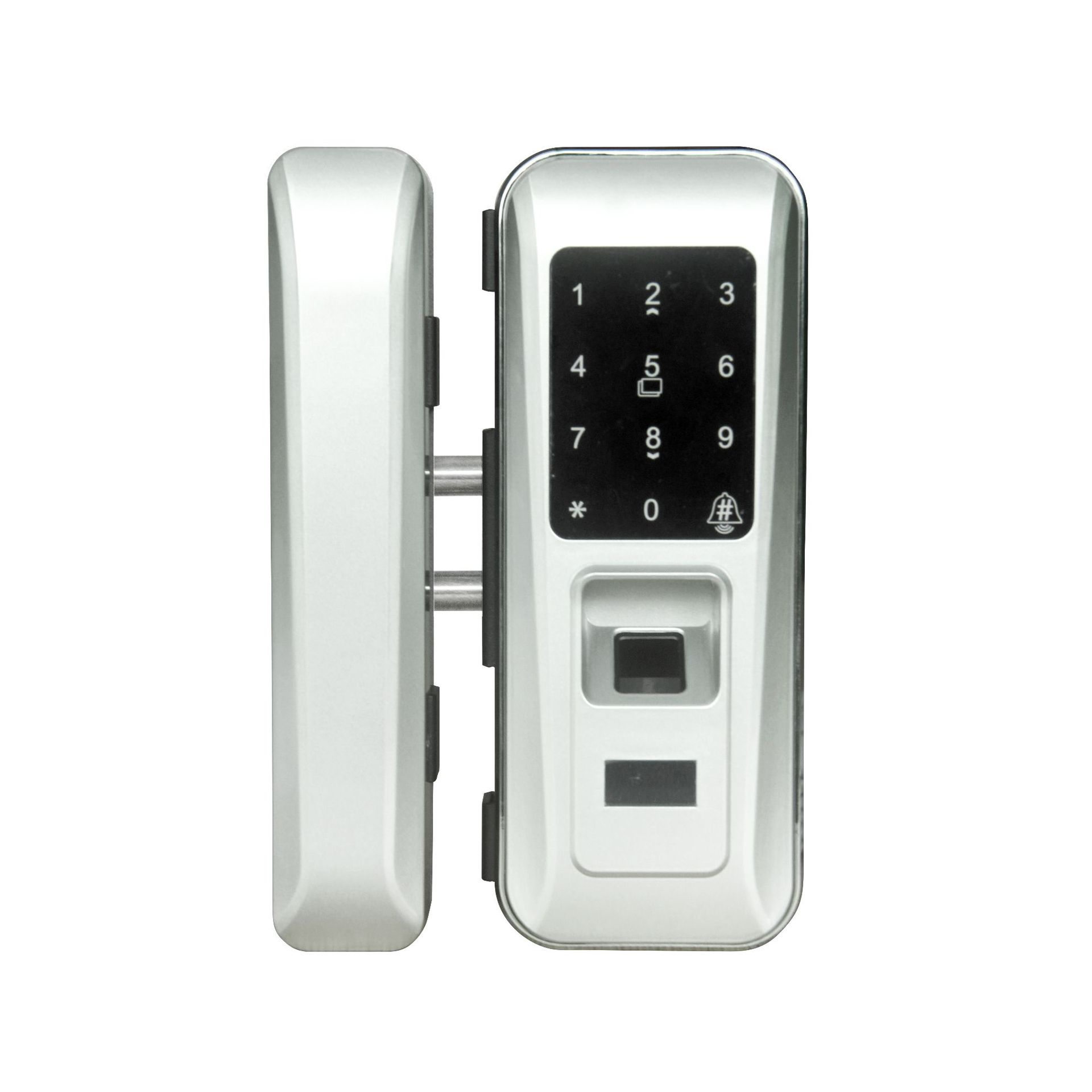 智能电子密码锁免开孔玻璃门指纹锁办公室玻璃锁