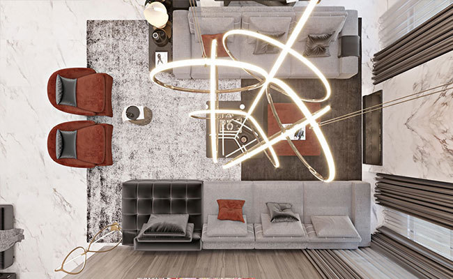 现代室内装修效果图-客厅