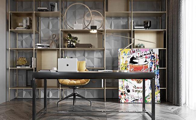 现代室内装修效果图-书房