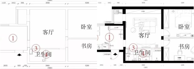 重庆老房子装修-80平米旧房翻新改造装修实例196.