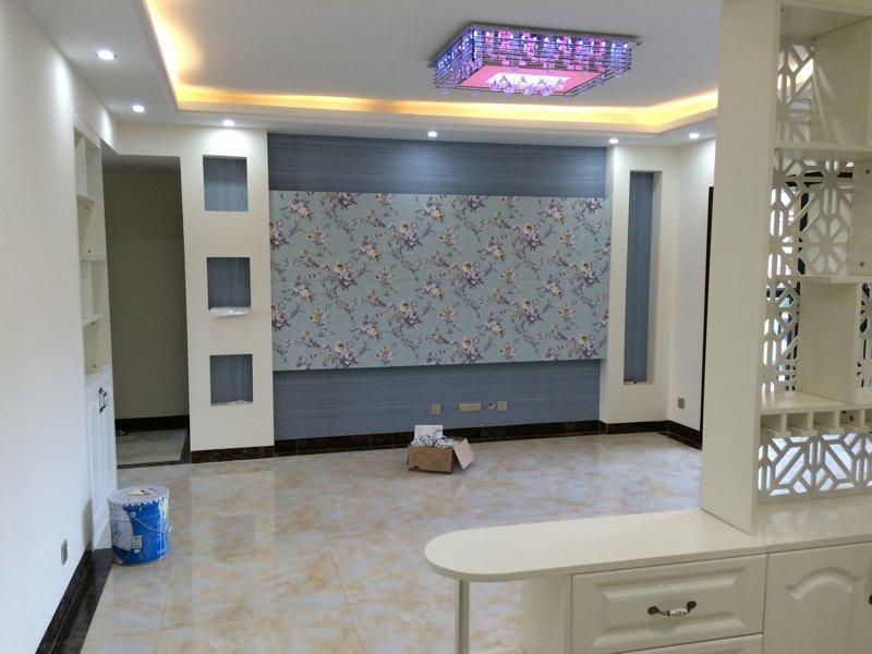 万科金色悦城三室两厅新房装修在建工程
