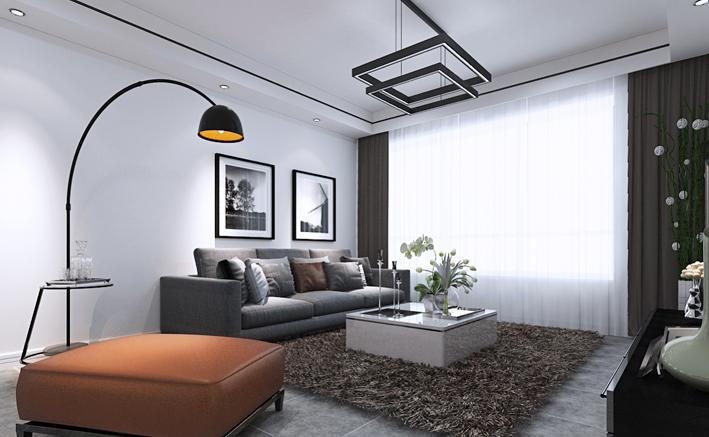 重庆家装公司案例_92平米现代风格装修效果图83.