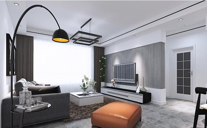 重庆家装公司案例_92平米现代风格装修效果图42.