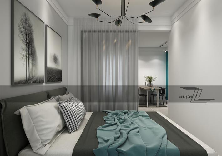 重庆家装公司案例_57平米现代风格装修效果图76