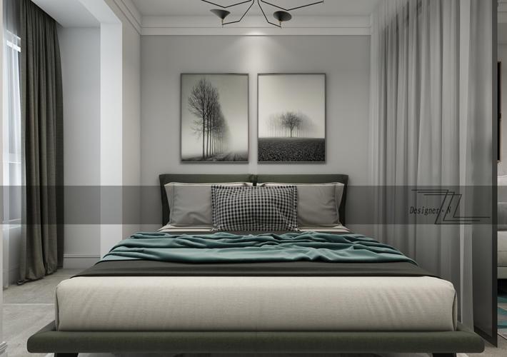 重庆家装公司案例_57平米现代风格装修效果图23