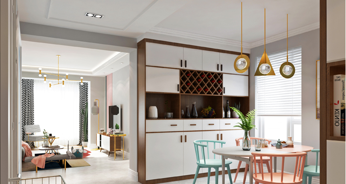 重庆家装公司案例_118平米现代风格装修效果图90.