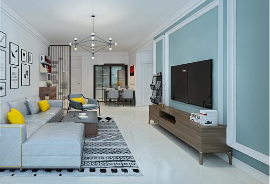 重庆家装公司案例_101平米现代风格装修效果图5.