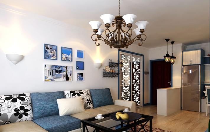 重庆家装公司案例_78平米地中海风格装修效果图4.