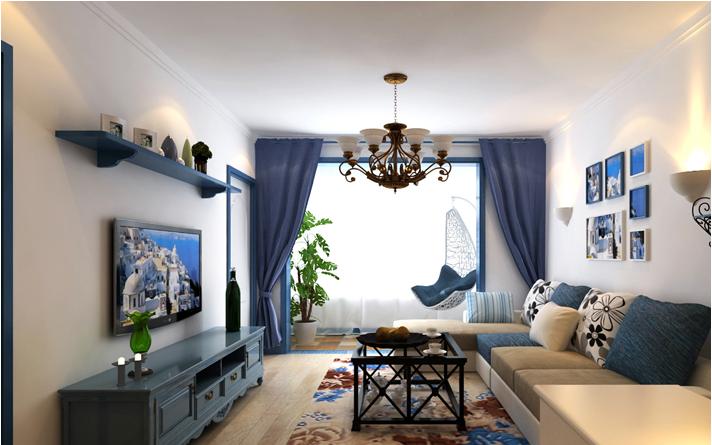 重庆家装公司案例_78平米地中海风格装修效果图77.