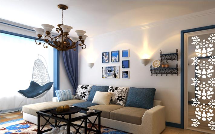 重庆家装公司案例_78平米地中海风格装修效果图55.