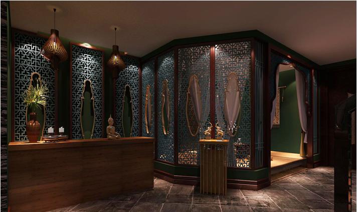 重庆装饰公司案例_300平米会馆东南亚风格装修效果图42.