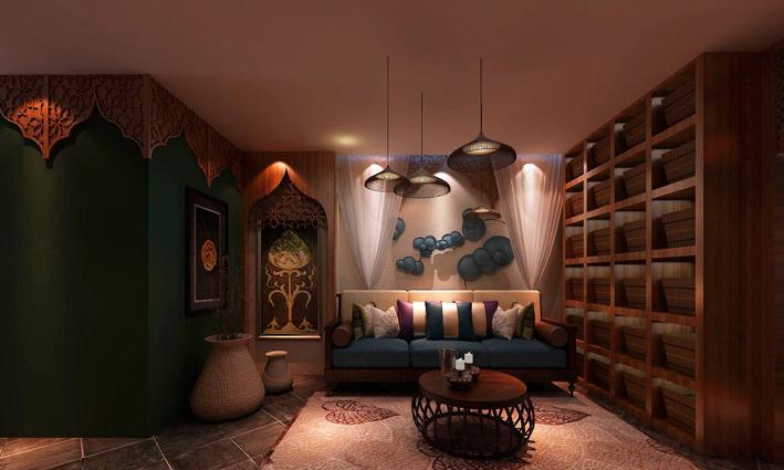 重庆装饰公司案例_300平米会馆东南亚风格装修效果图45.