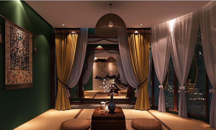 重庆装饰公司案例_300平米会馆东南亚风格装修效果图63.