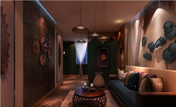 重庆装饰公司案例_300平米会馆东南亚风格装修效果图57.