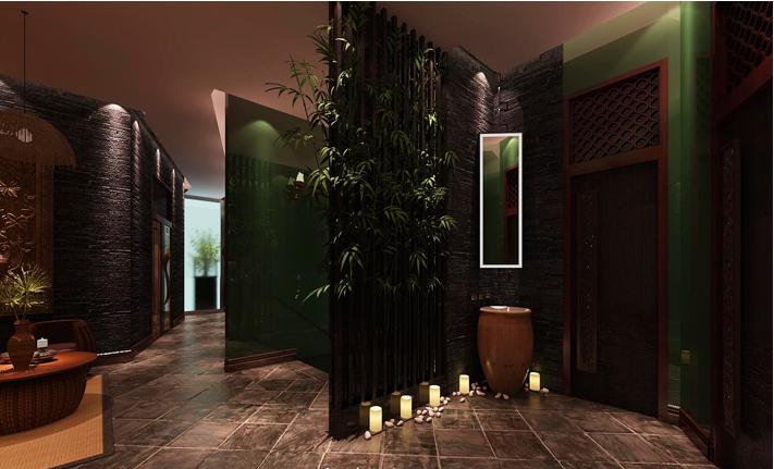 重庆装饰公司案例_300平米会馆东南亚风格装修效果图09.