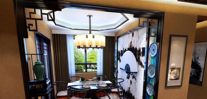 重庆装饰公司案例_锦绣里东南亚风格混搭效果图87.