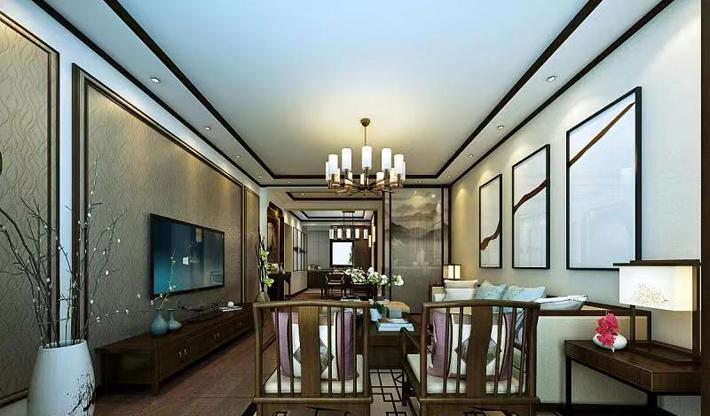重庆装饰公司案例_同心家园中式风格装修效果图41.