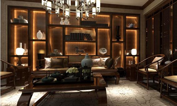 重庆旧房装修案例_远洋城新中式风格装修效果图844.