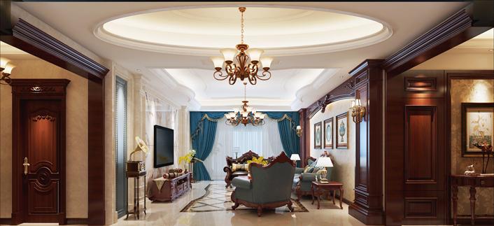 重庆旧房装修案例_360平米美式风格装修效果图42.