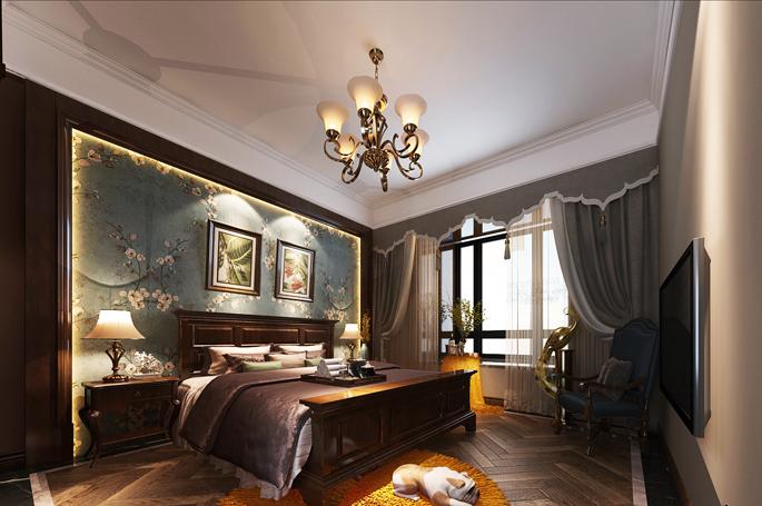 重庆旧房装修案例_360平米美式风格装修效果图26.