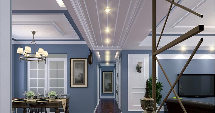 重庆旧房翻新案例_150平米美式风格装修效果图49.
