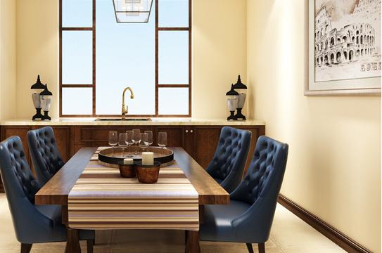 重庆旧房翻新案例_126平米美式风格装修效果图36.