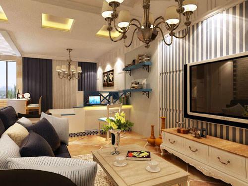 重庆新房装修案例_62平米地中海风格装修效果图3