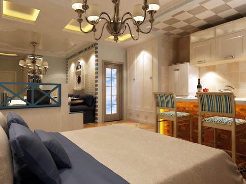 重庆新房装修案例_62平米地中海风格装修效果图42