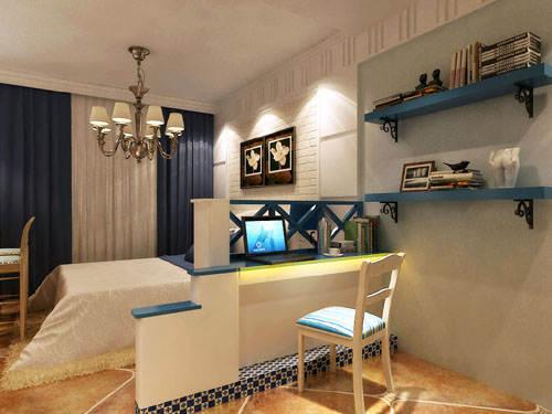 重庆新房装修案例_62平米地中海风格装修效果图13