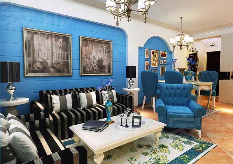重庆新房装修案例_123平米地中海风格装修效果图30