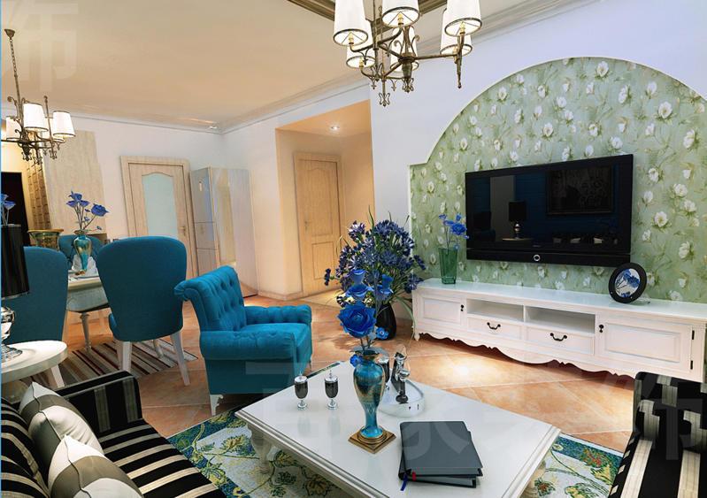 重庆新房装修案例_123平米地中海风格装修效果图40