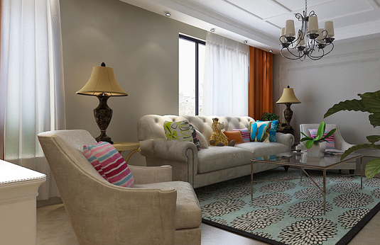 简美风格,装修效果图,重庆新房装修,新房装修案例95.
