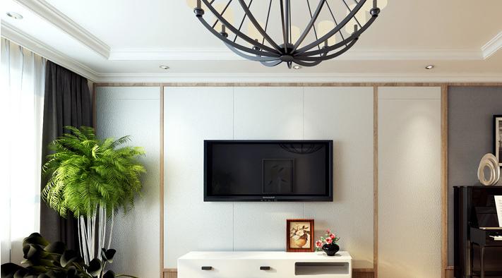 重庆新房装修案例_154平米小美式风格装修效果图30.