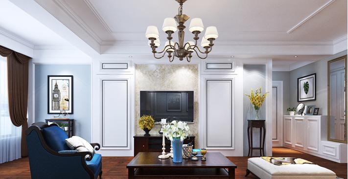 重庆新房装修案例_148平米美式风格装修效果图75.