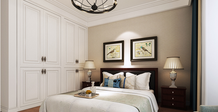 重庆新房装修案例_148平米美式风格装修效果图46.