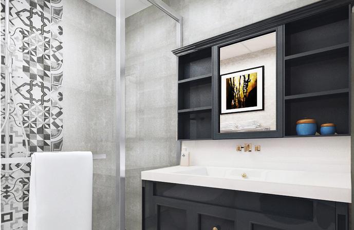 重庆新房装修案例_148平米美式风格装修效果图62.